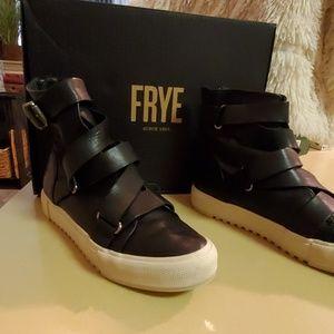 Frye Gia Moto High Sneaker